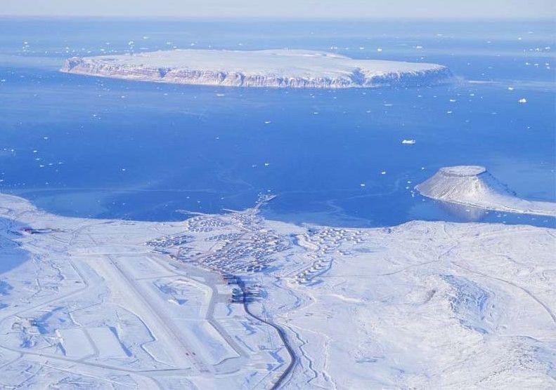 La base aérea estadounidense de Thule, conocida también como Aeropuerto de Pittufik, en Groenlandia