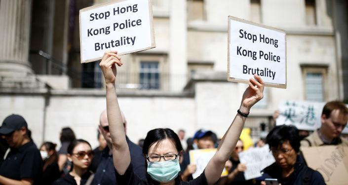 Protestas en Hong Kong (archivo)