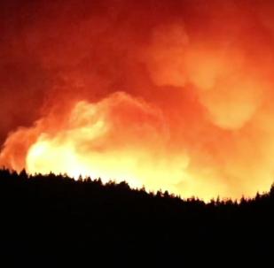 El virulento incendio forestal de Gran Canaria