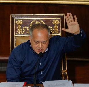 Diosdado Cabello, el presidente de la Asamblea Nacional Constituyente (ANC) de Venezuela