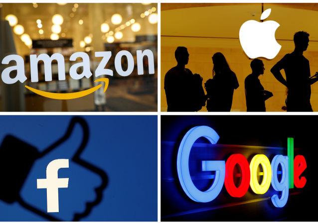 Logos de Amazon, Apples, Facebook y Google