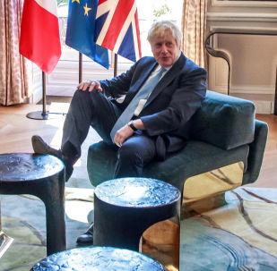 Emmanuel Macron, presidente de Francia, y Boris Johnson, primer ministro británico, durante su visita a París el 22 de agosto de 2019