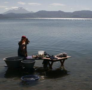 El lago Ilopango, en El Salvador