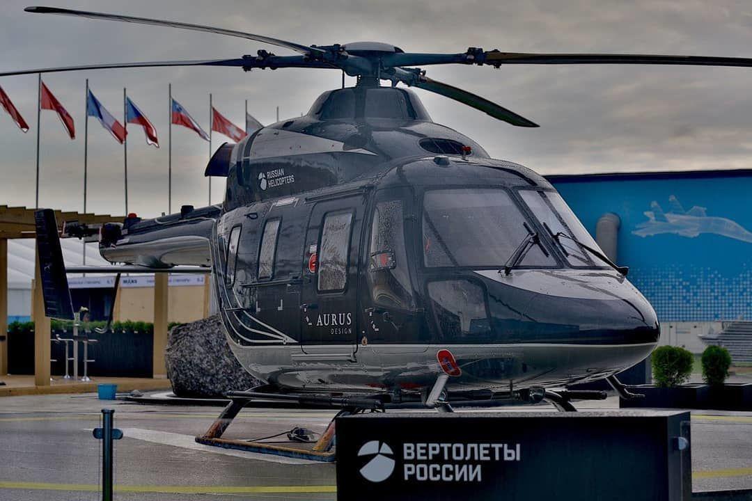 La empresa Helicópteros de Rusia presentó su nuevo modelo Ansat al estilo de la marca Aurus