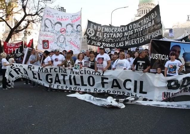Marcha contra la violencia policial en Buenos Aires: Basta de gatillo fácil