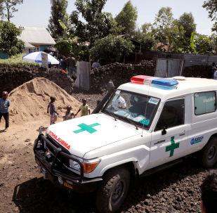 Una ambulancia en la República Democrática del Congo
