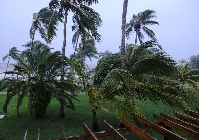 El paso del huracán Dorian por EEUU