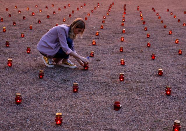 Homenaje a las víctimas de la tragedia de Beslán