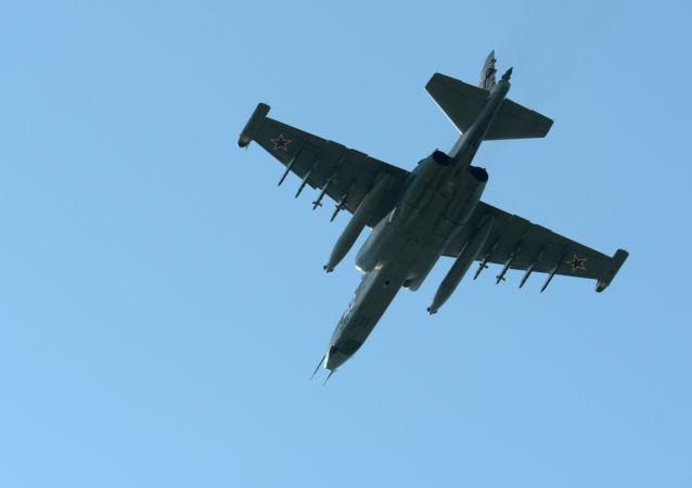 Avión de combate Su-25UB (archivo)