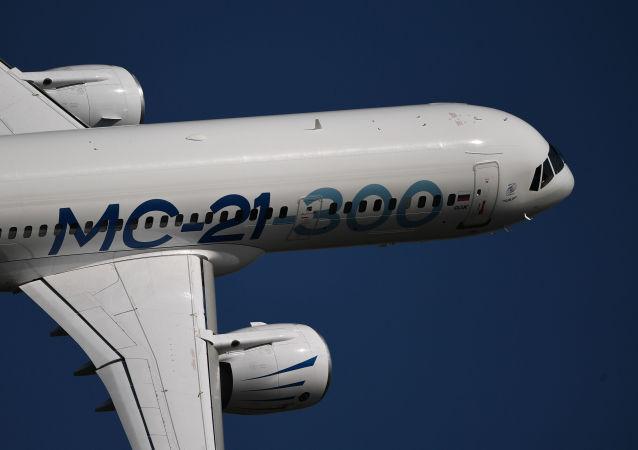 El avión comercial ruso MC-21