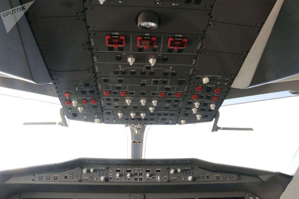 El interior del avión comercial ruso-chino CR929