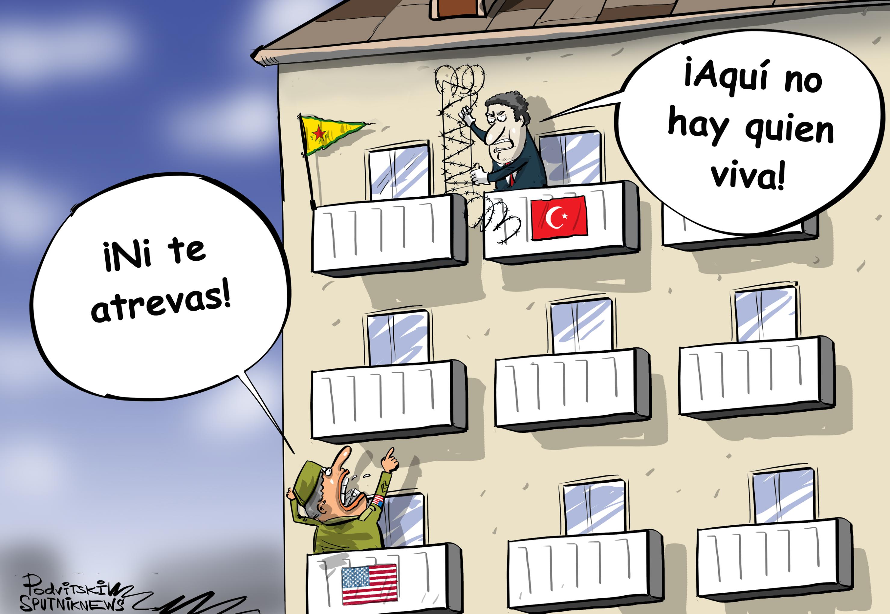 ¡Aquí no hay quién viva! EEUU regaña a Turquía por querer asegurar su frontera