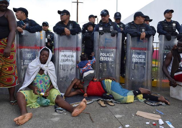 Los migrantes de Haiti en México