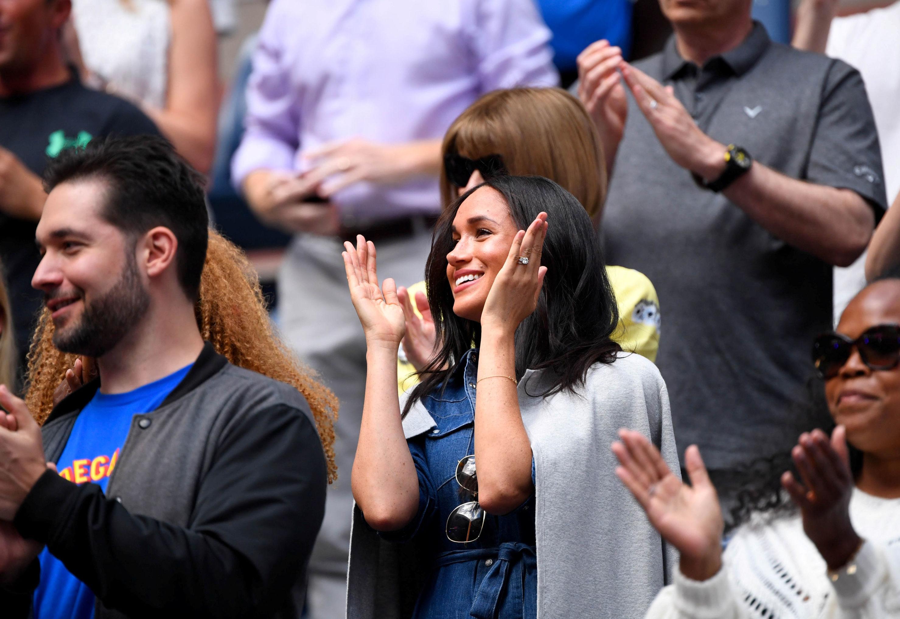Meghan Markle asiste a la final femenina del US Open en Nueva York