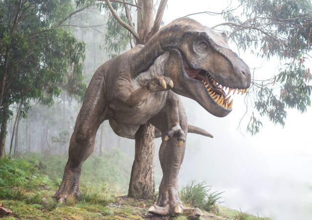 Un dinosaurio (ilustración)