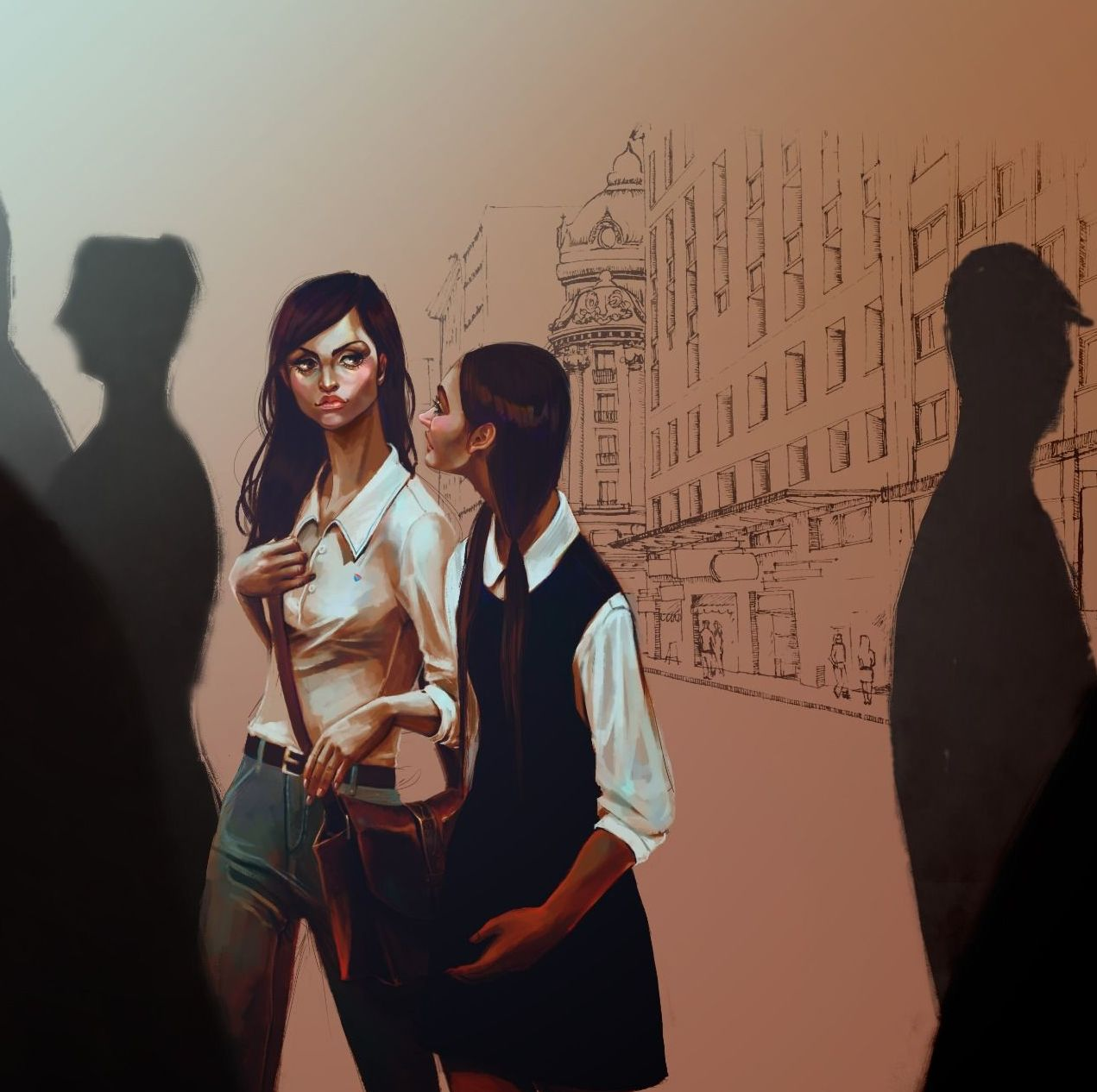 Concept-art oficial del videojuego chileno Guerras Sucias