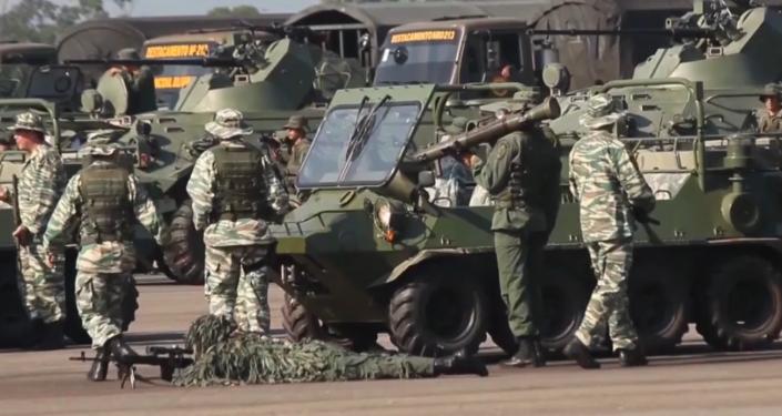 Así arrancan los ejercicios de Venezuela en la frontera con Colombia