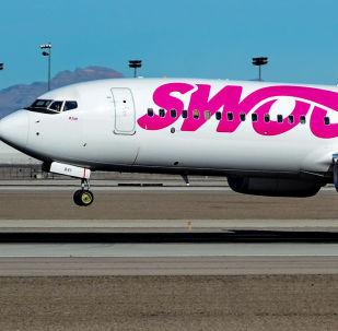 Un Boeing 737 de la compañía canadiense Swoop