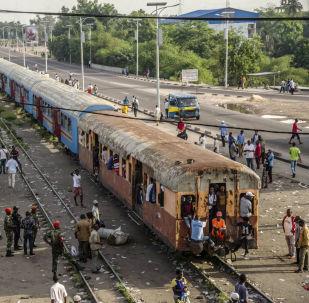 Un tren de la RD Congo (imagen referencial)