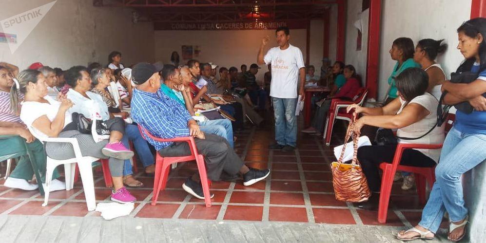 Asamblea de la empresa de propiedad social directa comunal gas de Antímano y los consejos comunales, Caracas, Venezuela