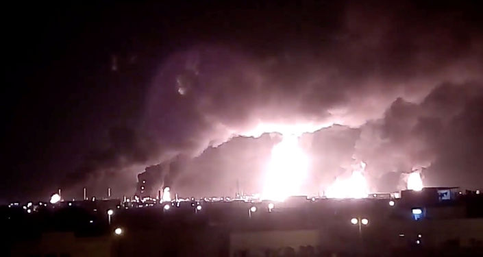 Incendios en las refinerías de la compañía Saudi Aramco