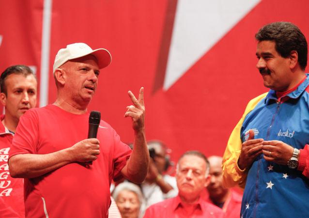 El exgeneral venezolano Hugo Carvajal junto al presidente Nicolás Maduro (archivo)