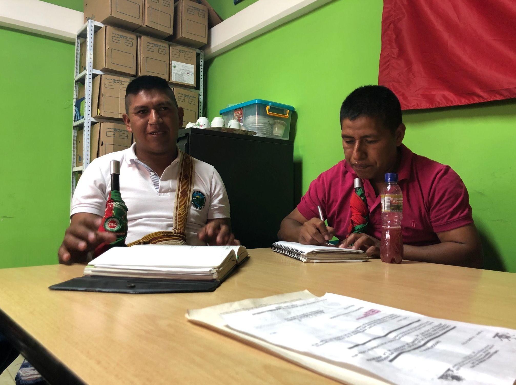 Los representantes de cabildos indígenas en el resguardo del municipio Caldono