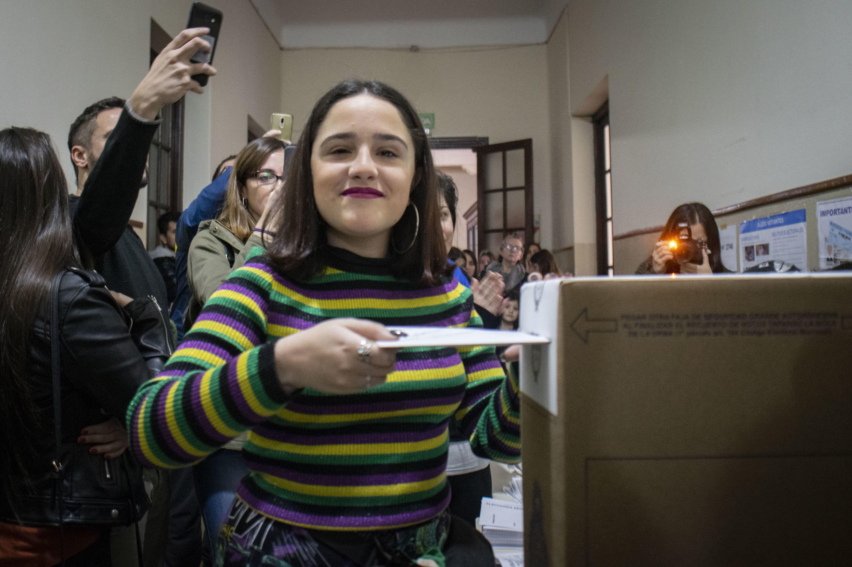 Ofelia Fernández, candidata en la primera vez que vota.