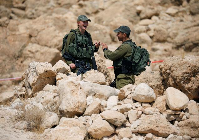 Los soldados israelíes en el Valle del Jordan