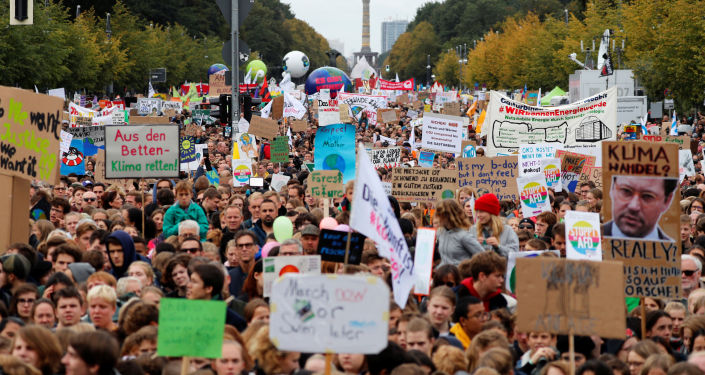 Protesta contra el cambio climático en Berlín, Alemania