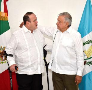 Andrés Manuel López Obrador, presidente de México, y Alejandro Giammattei, presidente electo de Guatemala