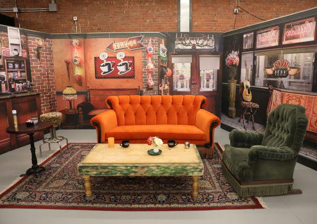 La clásica escenografía del 'Central Perk' del local temático de la serie Friends en Nueva York