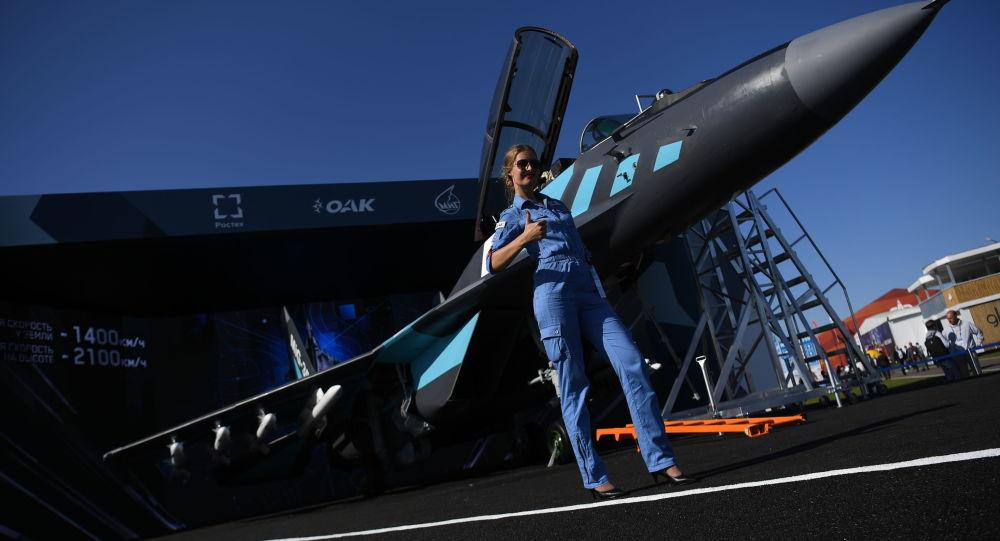 Presentación del MiG-35 en el salón aeronespacial MAKS 2019