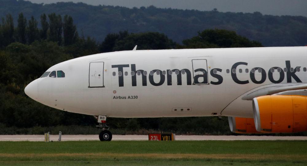 Un Airbus A330 del turoperador Thomas Cook