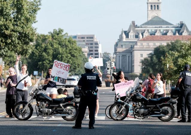 Manifestación por el cambio climático en Washington