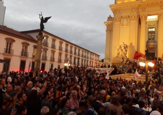 Protestas en Río de Janeiro, Brasil