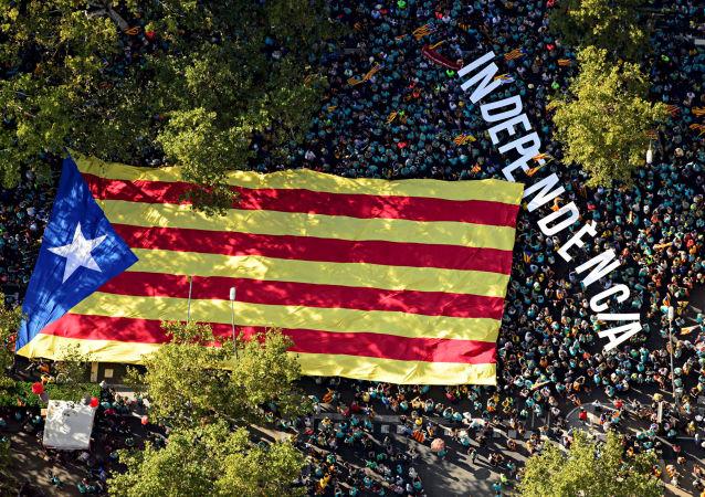 La bandera indepentista de Cataluña