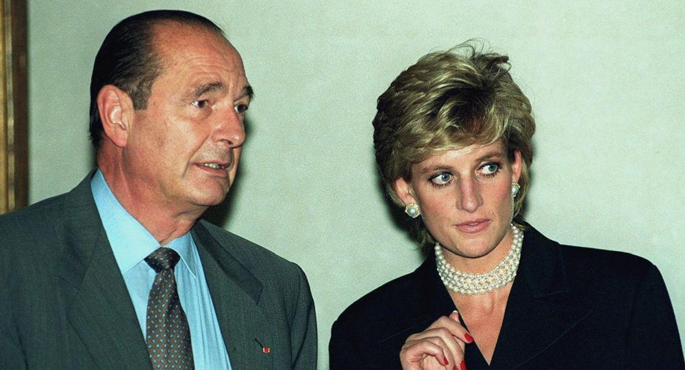 El expresidente de Francia Jacques Chirac y Lady Diana, la princesa de Gales