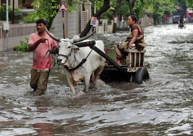 Inundaciones en la India