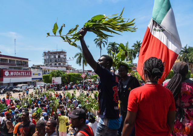 Migrantes africanos en Tapachula, México
