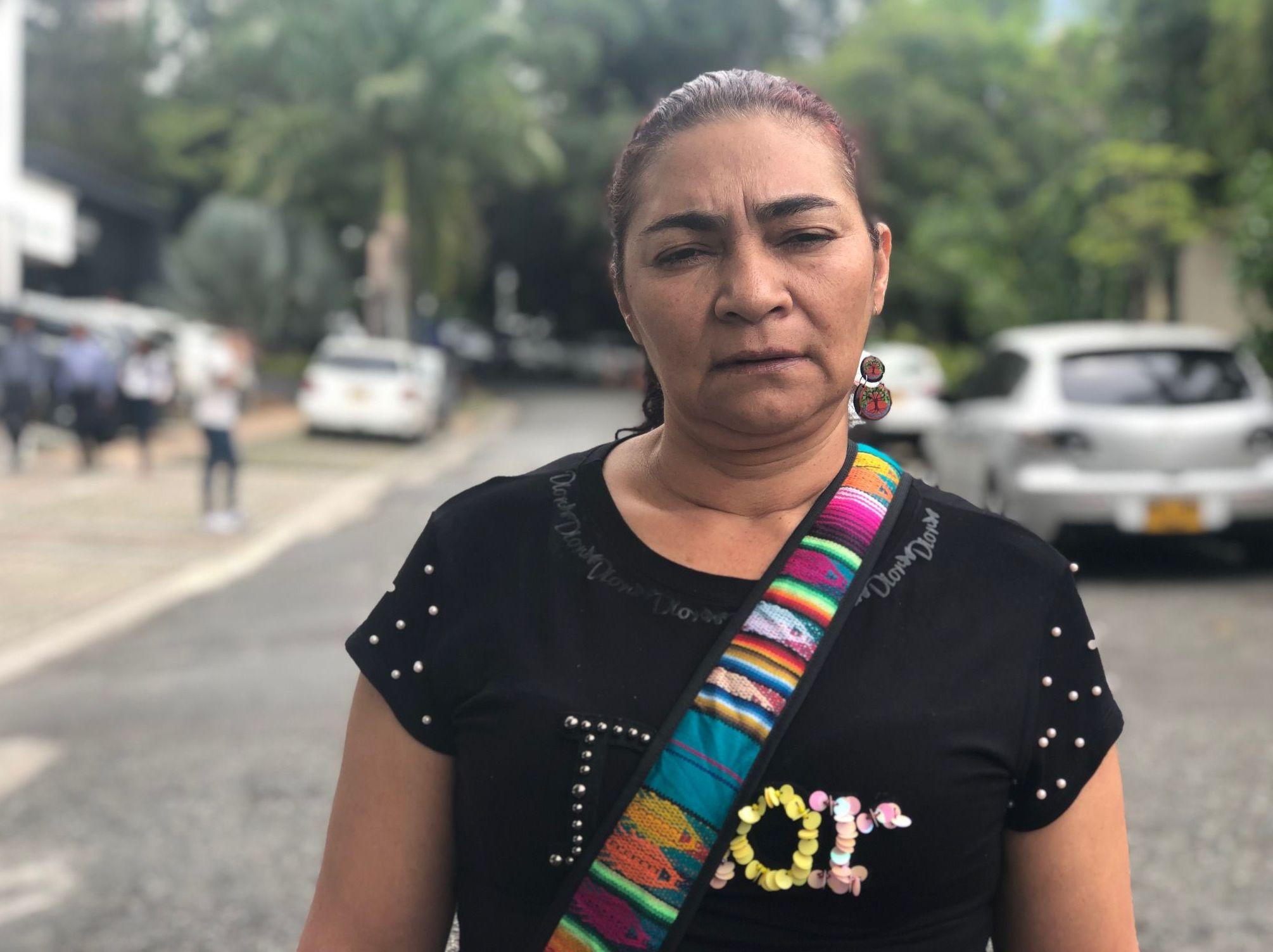 Estela, una de las víctimas del desastre ambiental en el río Cauca en 2018