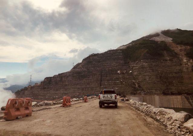 Obras de la represa de Hidroituango