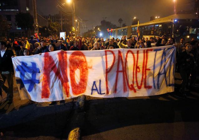 Protestas contra el presidente Lenín Moreno en Ecuado