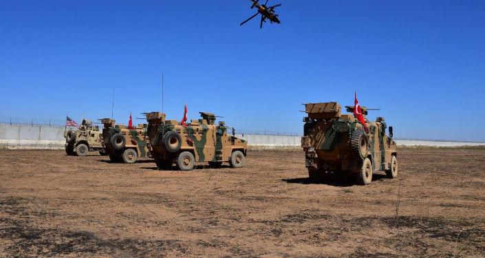 Patrullaje de Turquía y EEUU en Siria (archivo)