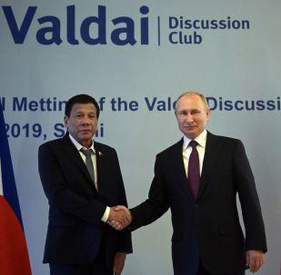 El presidente de Filipinas, Rodrigo Duterte con su homólogo ruso, Vladímir Putin
