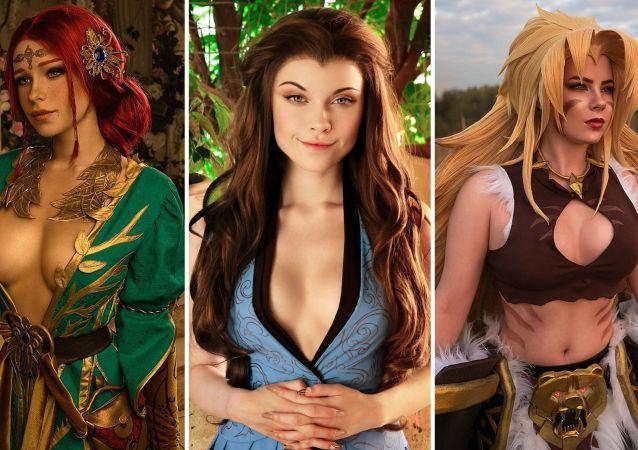 Las cosplayers rusas Irine Meier, Ilona Bugaeva y Anastasia Zelenova