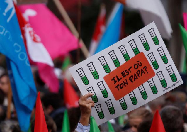 Protestas contra la ley de reproducción asistida en París