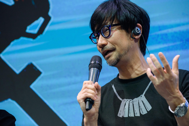 Hideo Kojima, diseñador de videojuegos japonés, en la Comic Con de Rusia