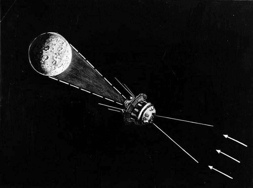 La foto de la cara oculta de la Luna tomada por la estación soviética Luna-3