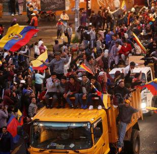 Los indígenas de Ecuador durante las protestas
